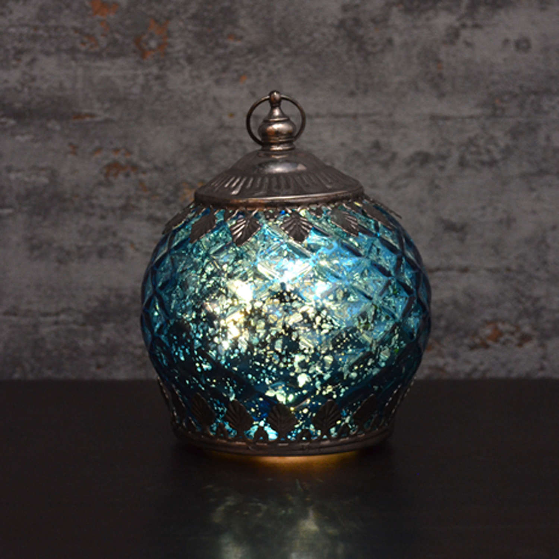 Blue LED pattern lantern