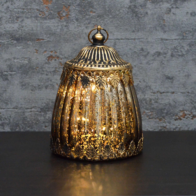 Gold effect LED lantern