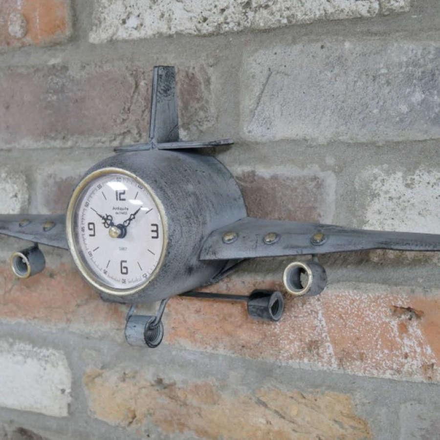 Metal Aeroplane clock