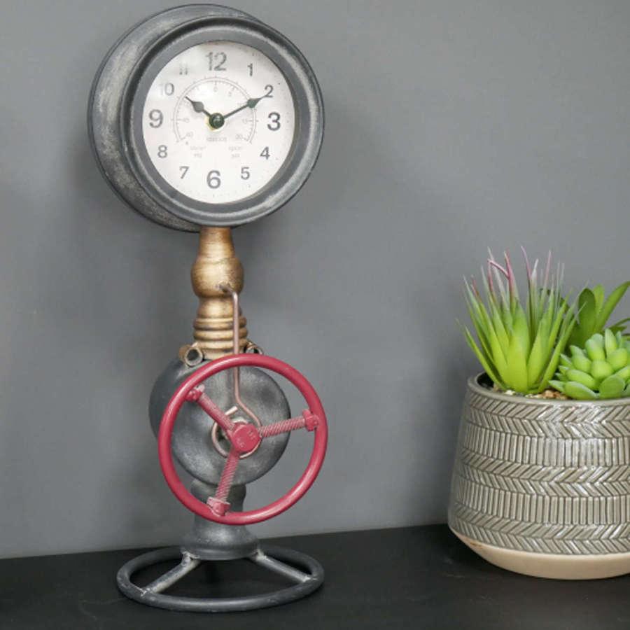 Industrial pipework clock