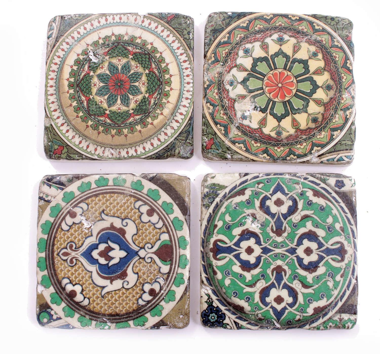 Set of four tile coasters