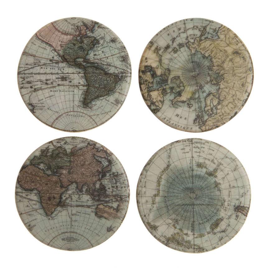Set of round the World coasters